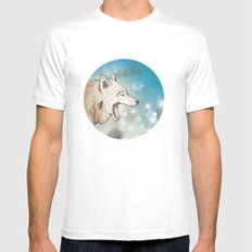 Scattered MEDIUM Mens Fitted Tee White