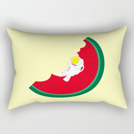 Space Odyssey | Astronaut Watermelon | Fruit | Summer | Watermelon Moon | pulp of wood Rectangular Pillow