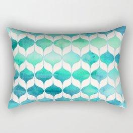 Ocean Rhythms and Mermaid's Tails Rectangular Pillow