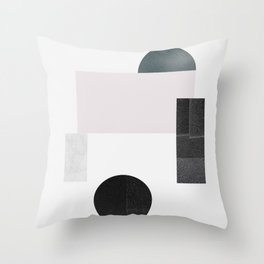 Black ball Throw Pillow