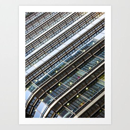 Canary Wharf  Abstract Art Print
