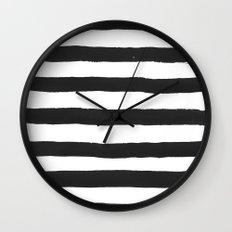 Black paint stripes Wall Clock