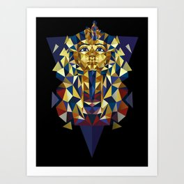 Golden Tutankhamun - Pharaoh's Mask Art Print