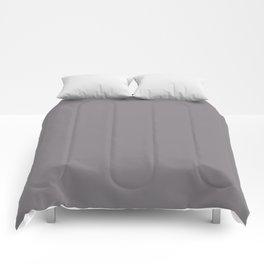 Color inspired by Valspar America Cinder Fox Light Purple Gray 4001-2B Solid Color Comforters