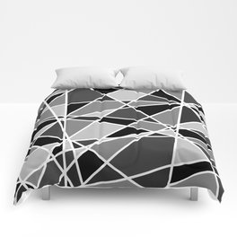 Shattered Charcoal Comforters
