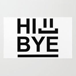 Hi... Bye! #society6 #decor #buyart #artprint Rug