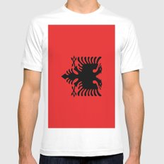 Flag Of Albania Mens Fitted Tee MEDIUM White