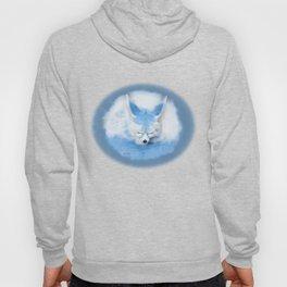 Sleeping Fennec Fox Blue Hoody