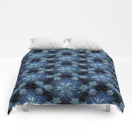 Relief Pattern 01 blue Comforters