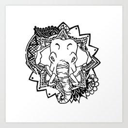ANIMANDALA HAATHEE Art Print