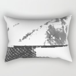LeProcope_Glitch02 BW Rectangular Pillow