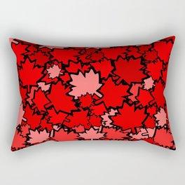 Red Maple Leaves Rectangular Pillow