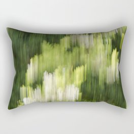 Green Hue Realm Rectangular Pillow