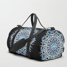 ice flake winter mandala Duffle Bag