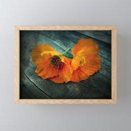 Twin Flowers Framed Mini Art Print