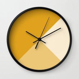 Mustard Tones Wall Clock