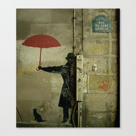 Rue du Chat Qui Peche Canvas Print
