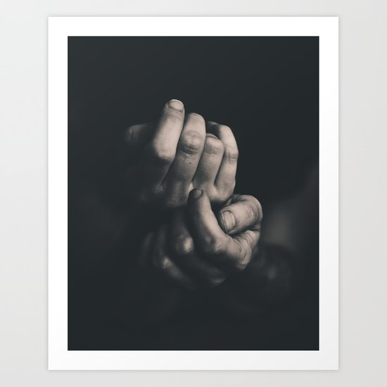 Hands, Black and white Art Print