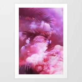 Pink Palms Art Print