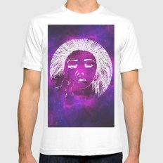 Dream, Space MEDIUM White Mens Fitted Tee