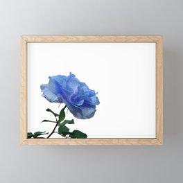Sparkly Blue Rose Framed Mini Art Print