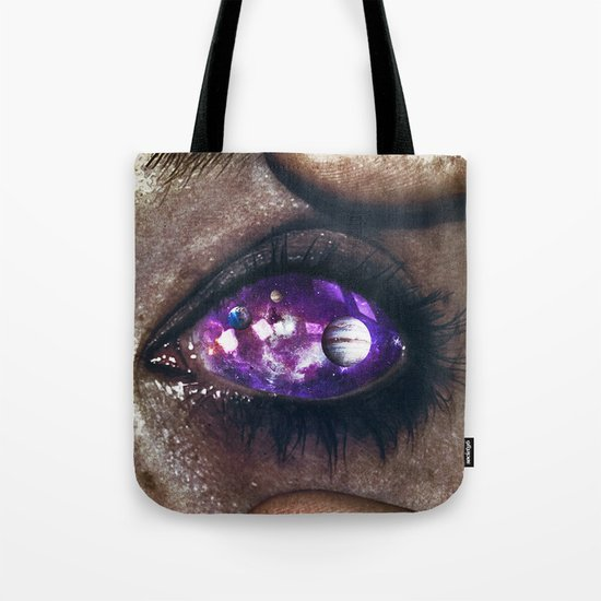 Ojos color galaxia Tote Bag