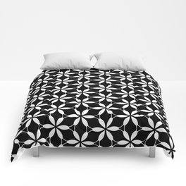 Black and White Floral Comforters