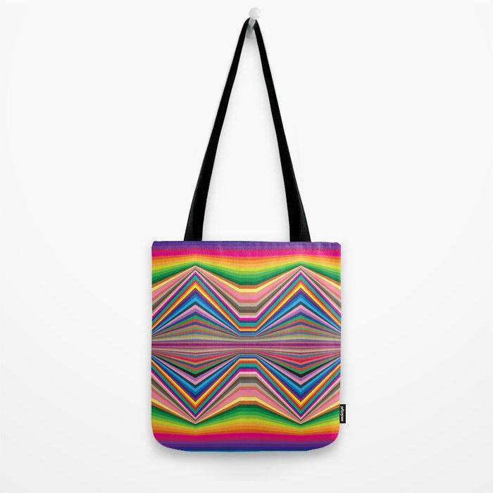 Colorful optic work Tote Bag