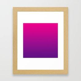 Neon Pink Purple Ultra Violet Pattern Framed Art Print