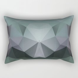 Abstract geometric polygonal pattern in grey and green tones . Rectangular Pillow