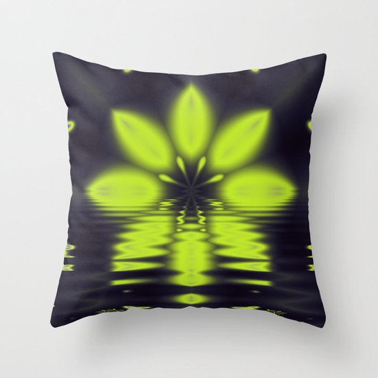 Night Setting Throw Pillow
