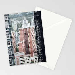Skyscraper City View Stationery Cards