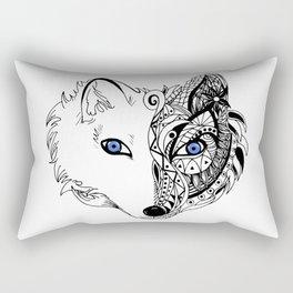 Abstract Fox Rectangular Pillow