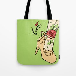 Tattoo Shoe Tote Bag