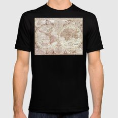 An Accurate Map Black Mens Fitted Tee MEDIUM
