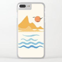 Minimalistic Summer III Clear iPhone Case