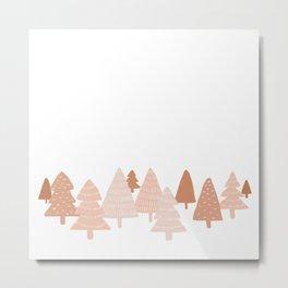 Blush Winter Trees Metal Print