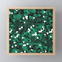 Jade Green Polycamo Framed Mini Art Print