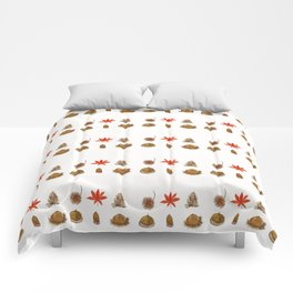 fall patterns watercolor Comforters
