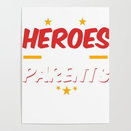 Military Service National Service Army Navy I Have A Hero I Call Them Parents Gift Poster
