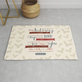 """""""Hope in the Lord"""" Hand-Lettered Bible Verse Rug"""
