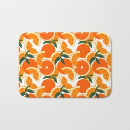 Orange Harvest - White Bath Mat