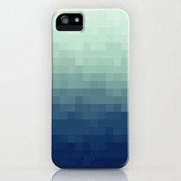 Gradient Pixel Aqua iPhone Case