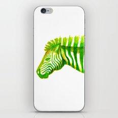 Zebra Watercolor Print iPhone & iPod Skin