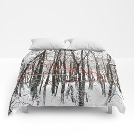 winter forest Comforters