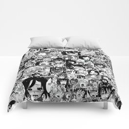 Ahegao hentai faces Comforters