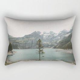 Lone Switzerland Tree - Landscape Photography Rectangular Pillow