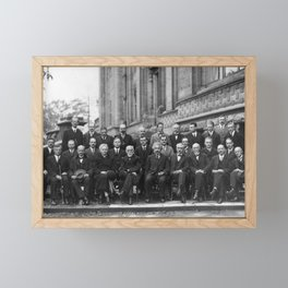 1927 Solvay Conference Group Portrait Framed Mini Art Print