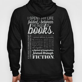 Folded Between the Pages of Books - Black Hoody