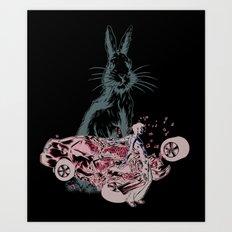 Rabbit In Your Headlights Art Print